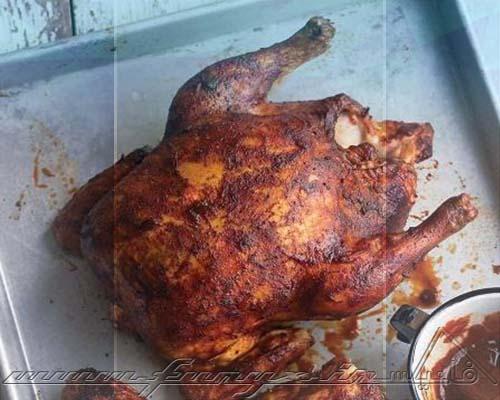 طرز تهیه مرغ کبابی کامل با سس باربیکیو