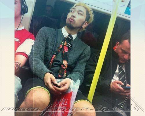 عکس های خنده دار از سوژه های عجیب و غریب در مترو