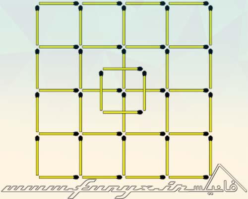تست هوش: مربع های چوب کبریتی