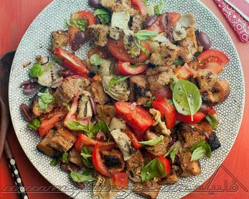 طرز تهیه سالاد ایتالیایی با مرغ